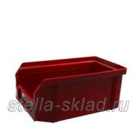 Пластиковый ящик V-1 красный