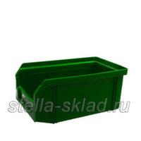 Пластиковый ящик V-1 зеленый