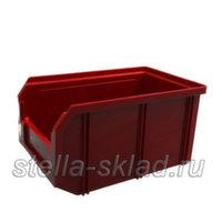 Пластиковый ящик V-2 красный