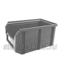 Пластиковый ящик V-2 серый