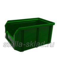 Пластиковый ящик V-2 зеленый