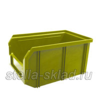 Пластиковый ящик V-2 жёлтый