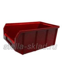 Пластиковый ящик V-3 красный