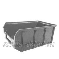 Пластиковый ящик V-3 серый