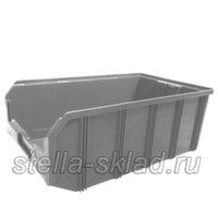 Пластиковый ящик V-4 серый